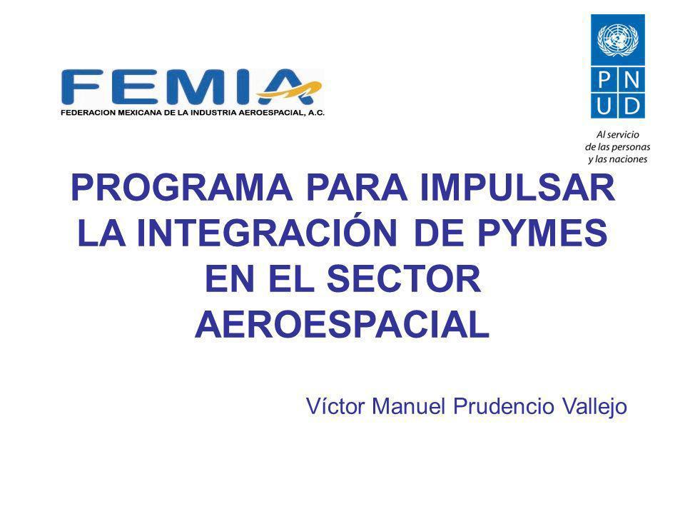 PROGRAMA PARA IMPULSAR LA INTEGRACIÓN DE PYMES EN EL SECTOR AEROESPACIAL Víctor Manuel Prudencio Vallejo
