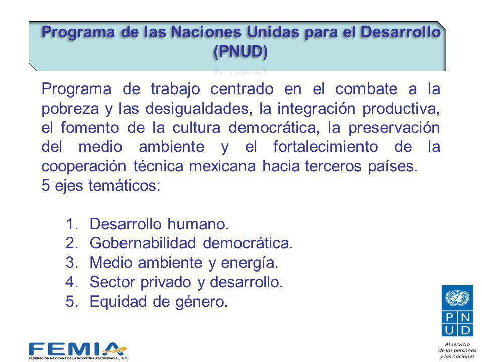 El financiamiento del PNUD en México proviene de fuentes bilaterales, multilaterales y gubernamentales.