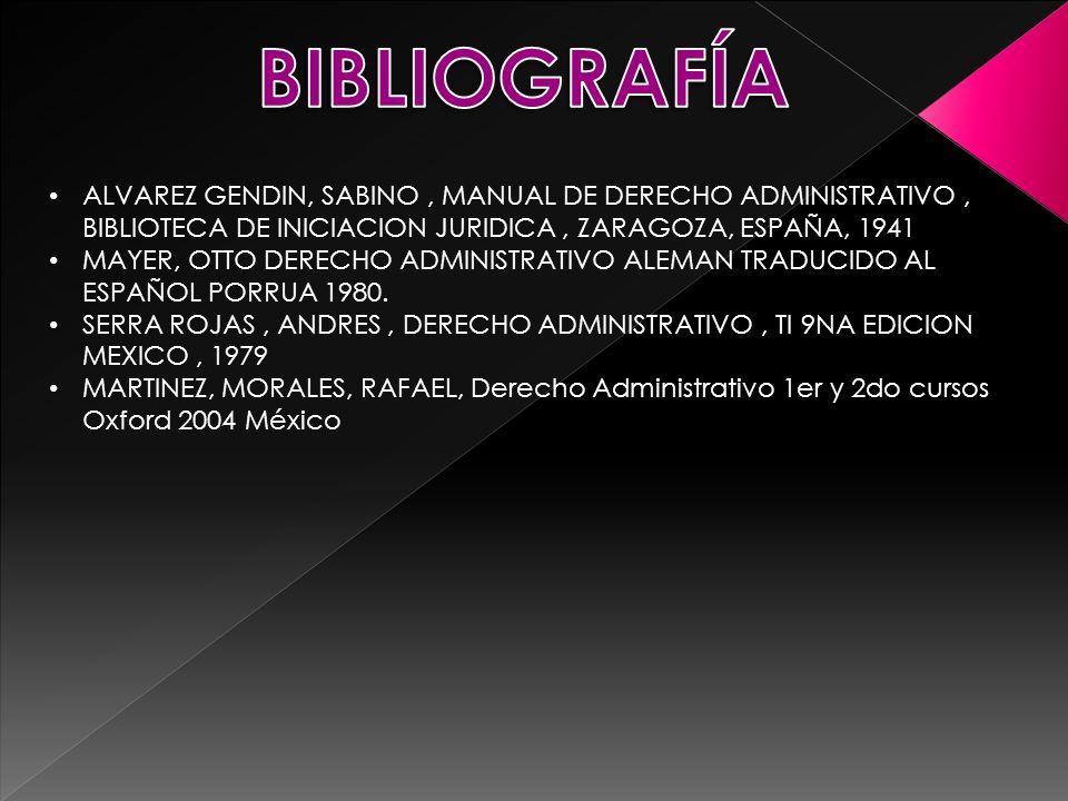 ALVAREZ GENDIN, SABINO, MANUAL DE DERECHO ADMINISTRATIVO, BIBLIOTECA DE INICIACION JURIDICA, ZARAGOZA, ESPAÑA, 1941 MAYER, OTTO DERECHO ADMINISTRATIVO