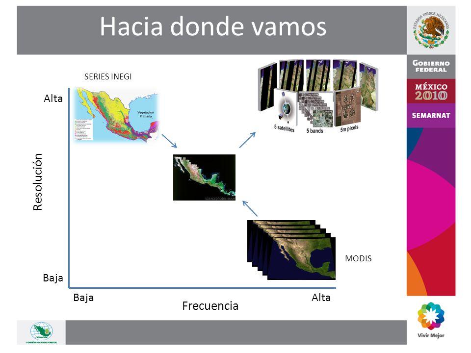 Resolución Frecuencia Alta Baja MODIS SERIES INEGI Hacia donde vamos