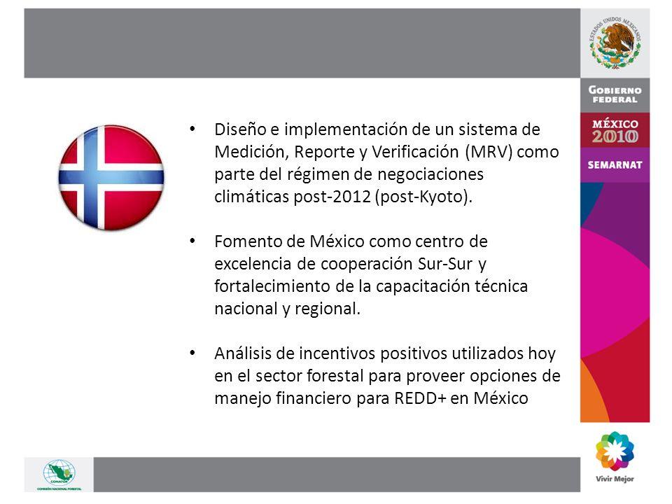 Diseño e implementación de un sistema de Medición, Reporte y Verificación (MRV) como parte del régimen de negociaciones climáticas post-2012 (post-Kyoto).
