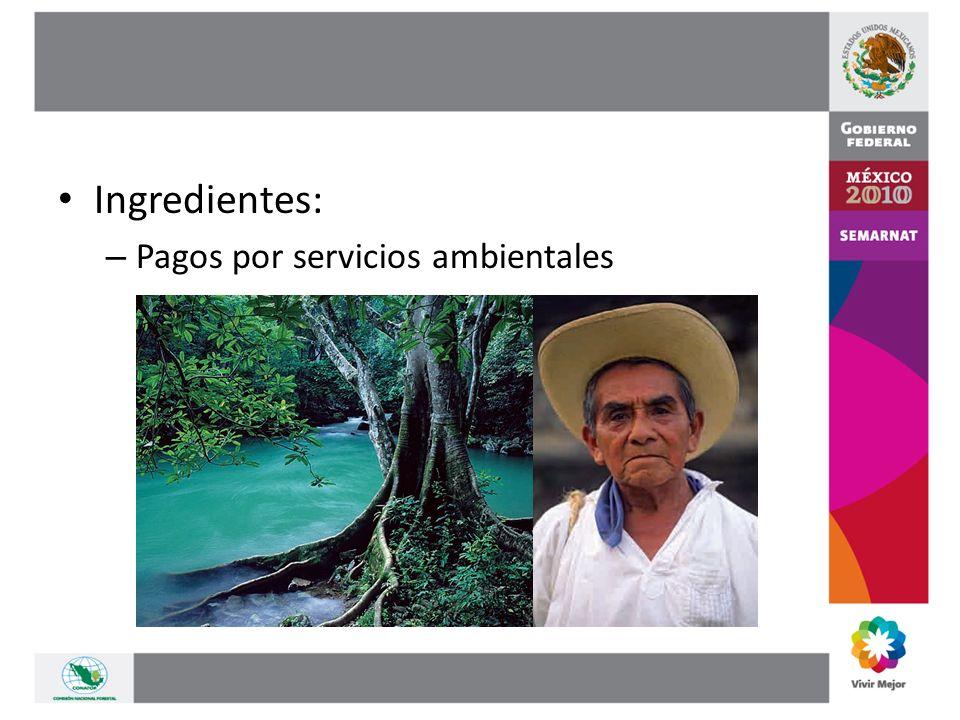 Ingredientes: – Pagos por servicios ambientales