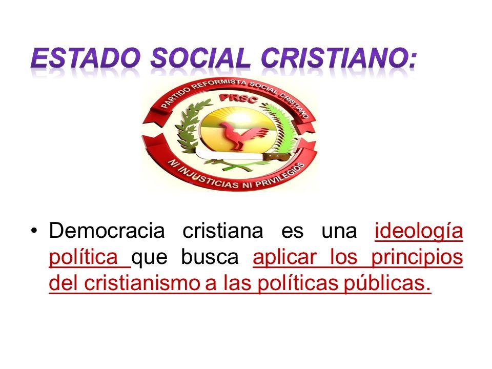Democracia cristiana es una ideología política que busca aplicar los principios del cristianismo a las políticas públicas.