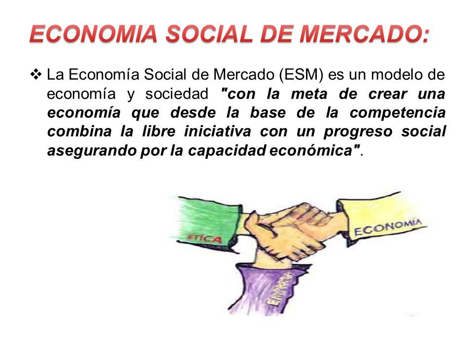La Economía Social de Mercado (ESM) es un modelo de economía y sociedad