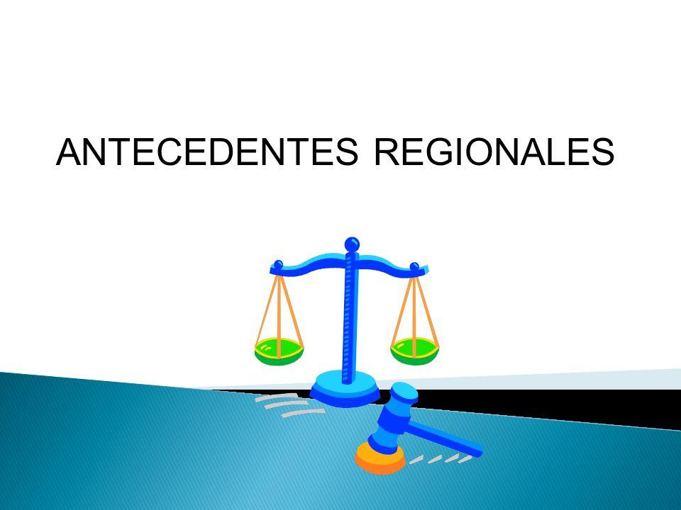 ANTECEDENTES REGIONALES.