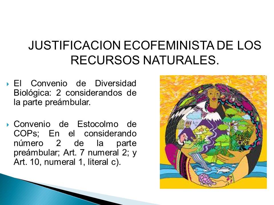 El Convenio de Diversidad Biológica: 2 considerandos de la parte preámbular. Convenio de Estocolmo de COPs; En el considerando número 2 de la parte pr