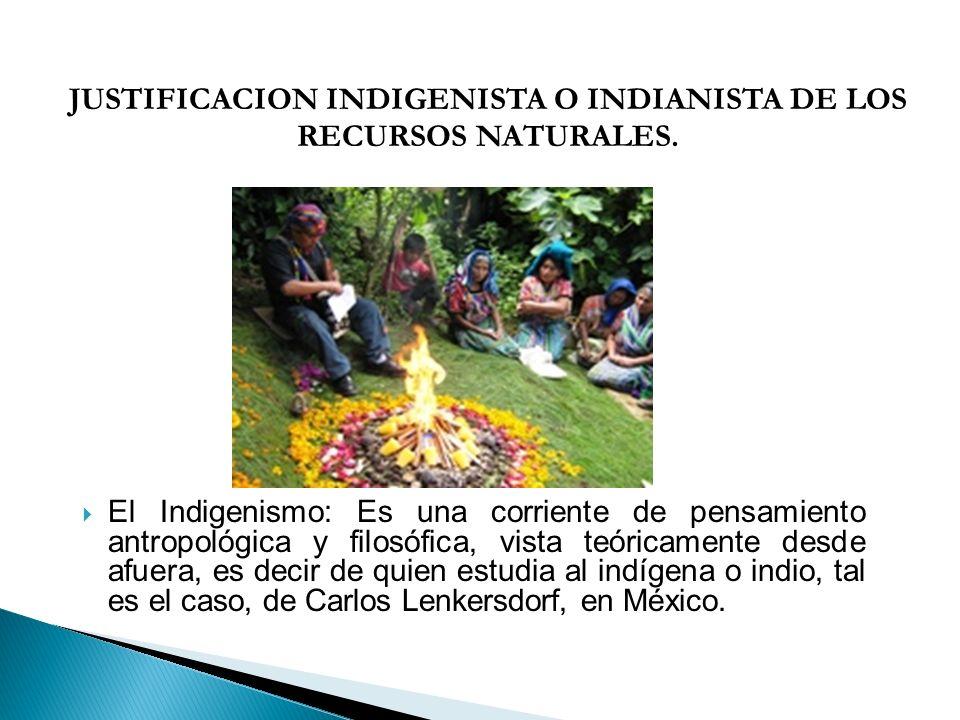 El Indigenismo: Es una corriente de pensamiento antropológica y filosófica, vista teóricamente desde afuera, es decir de quien estudia al indígena o i