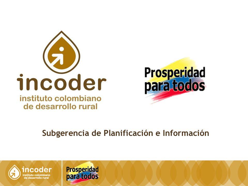 12 SUBGERENCIA DE PLANIFICACIÓN E INFORMACIÓN Dirección Técnica de Información y Tecnología / SIG