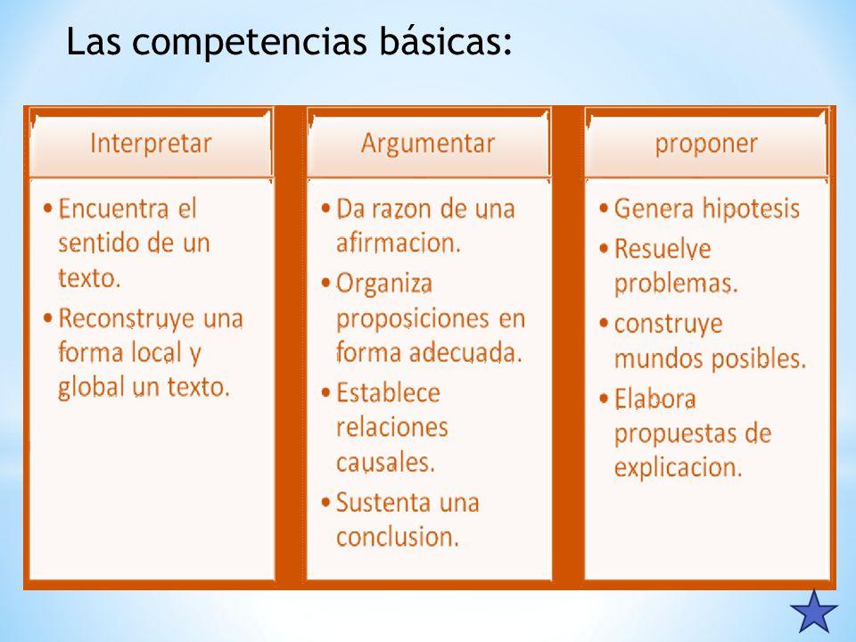 Las competencias básicas: