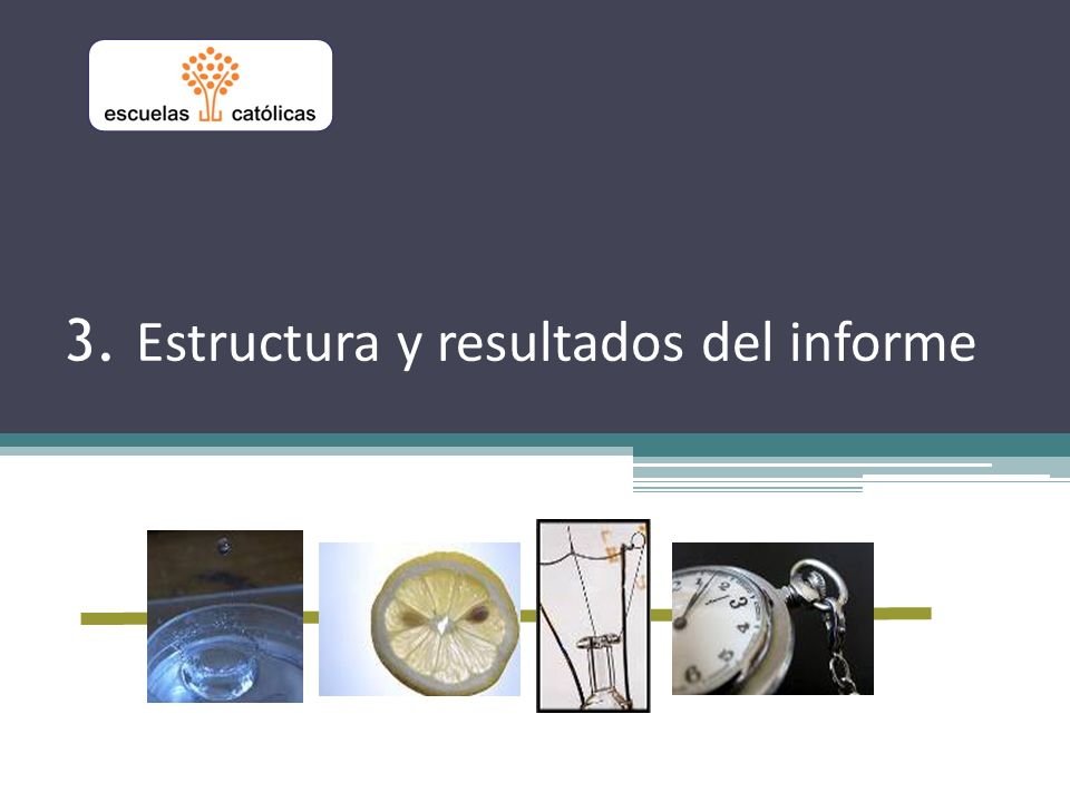 3. Estructura y resultados del informe