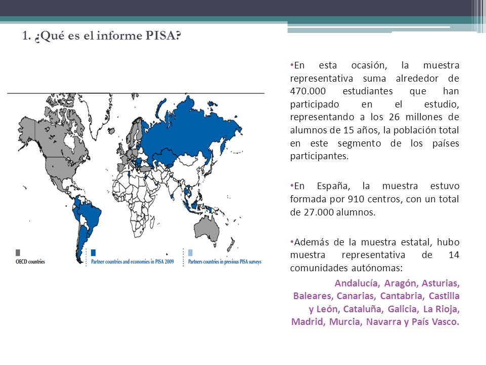 2. ¿Qué se evalúa en PISA 2009?
