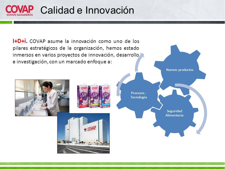 Calidad e Innovación I+D+i. COVAP asume la innovación como uno de los pilares estratégicos de la organización, hemos estado inmersos en varios proyect
