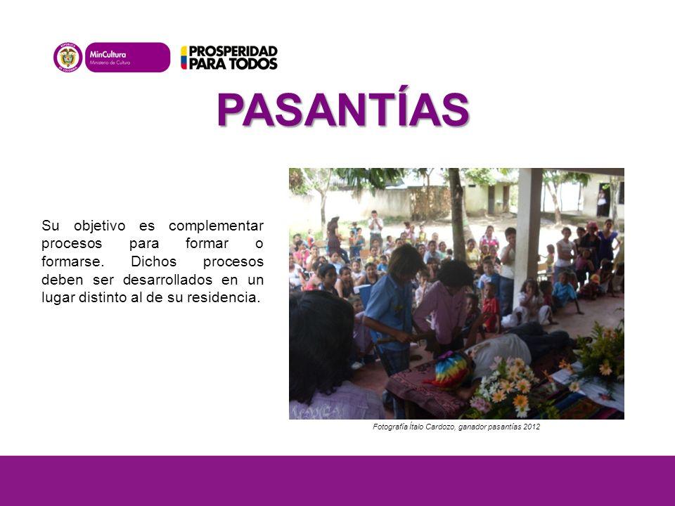 PASANTÍAS Fotografía Ítalo Cardozo, ganador pasantías 2012 Su objetivo es complementar procesos para formar o formarse.