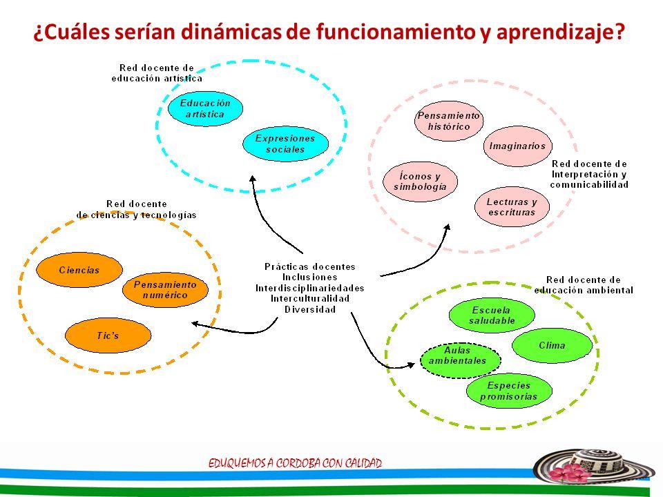 ¿Cuáles serían dinámicas de funcionamiento y aprendizaje? EDUQUEMOS A CORDOBA CON CALIDAD
