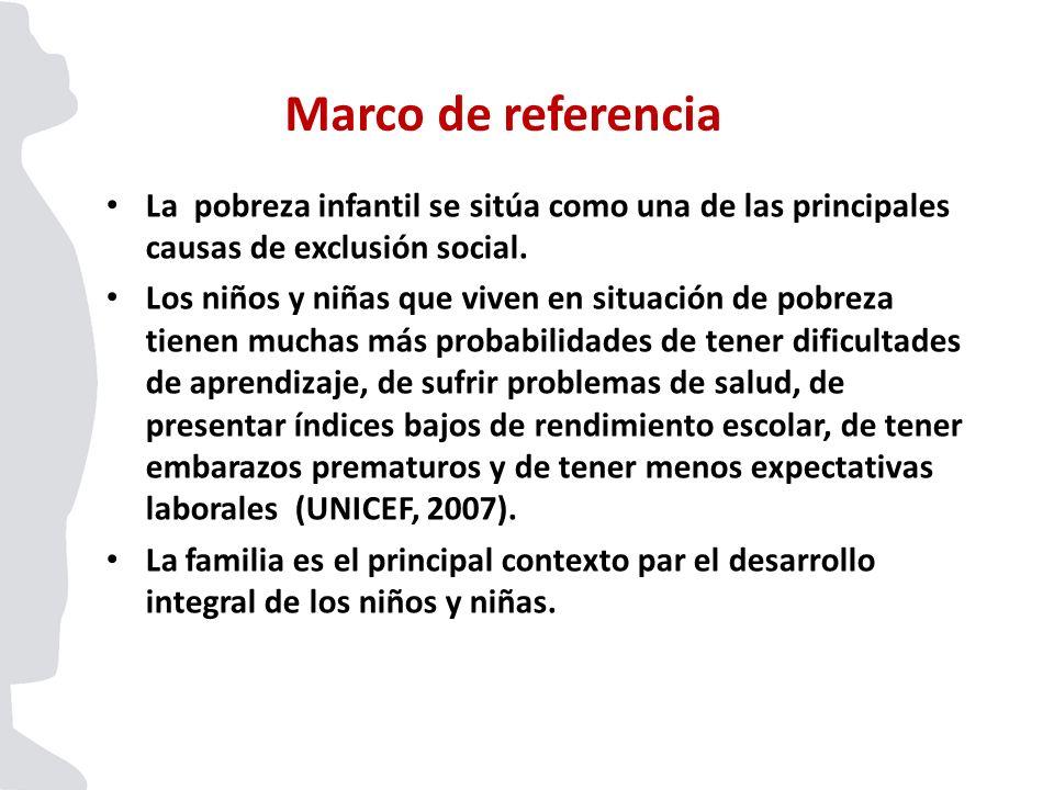 La pobreza infantil se sitúa como una de las principales causas de exclusión social. Los niños y niñas que viven en situación de pobreza tienen muchas