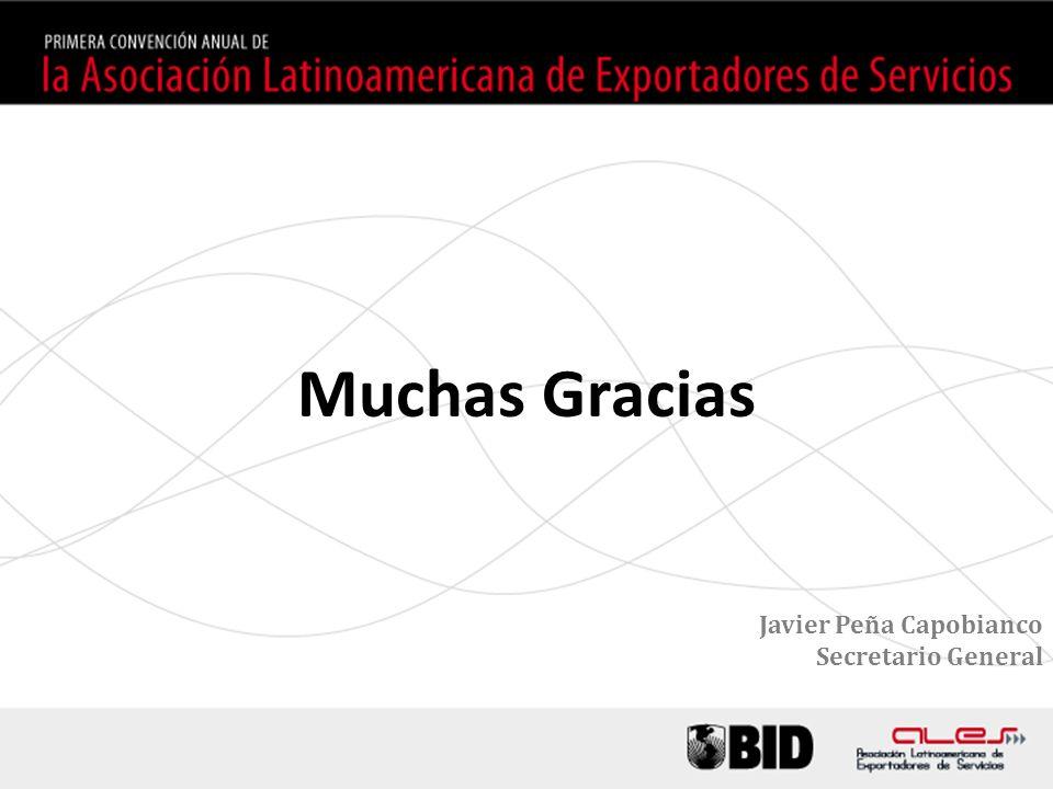 Muchas Gracias Javier Peña Capobianco Secretario General