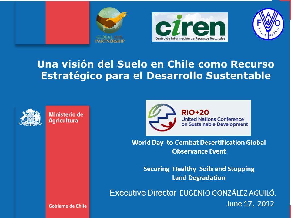 ALGUNOS PROBLEMAS DE DEGRADACIÓN QUE AFECTAN A LOS SUELOS DE CHILE 1.DEGRADACIÓN NO EROSIVA: alteración de las propiedades físicas, químicas y biológicas del suelo con su consecuente pérdida de productividad.