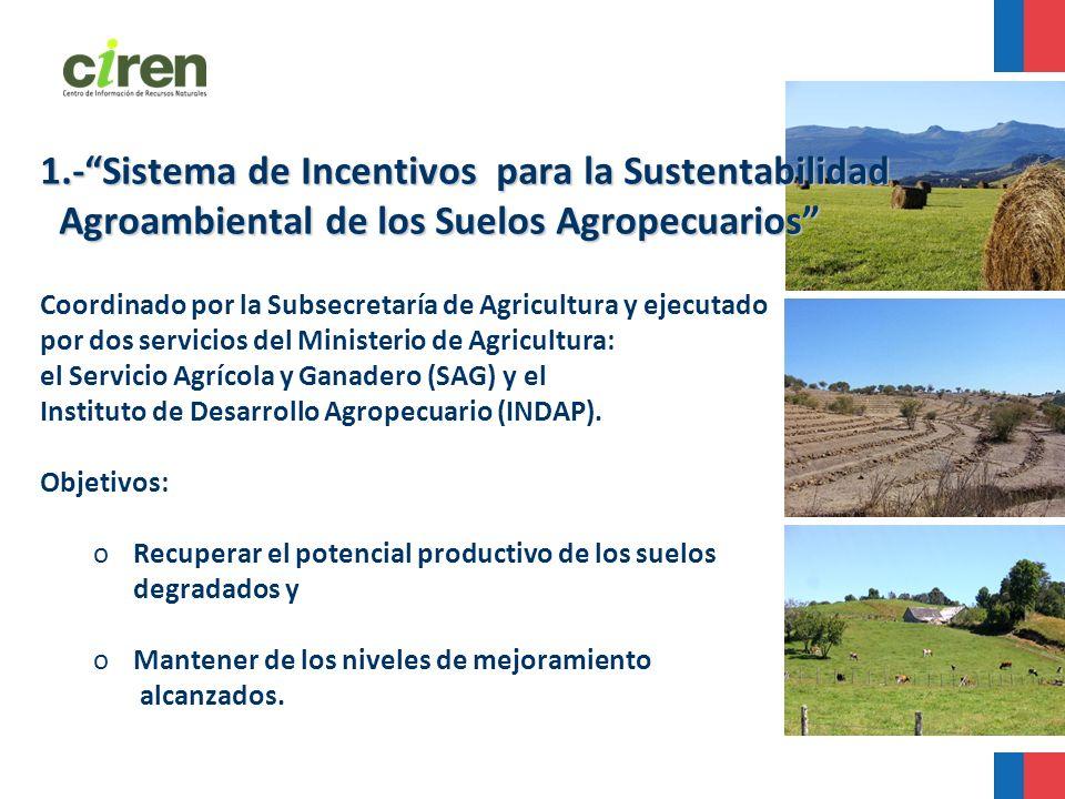1.-Sistema de Incentivos para la Sustentabilidad Agroambiental de los Suelos Agropecuarios Agroambiental de los Suelos Agropecuarios Coordinado por la