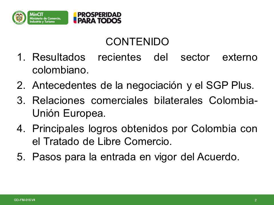 23 Impacto del Acuerdo en el economía colombiana El acuerdo será un factor importante en la economía colombiana GD-FM-016 V4 De acuerdo con el análisis del Departamento Nacional de Planeación, basados en ejercicios que únicamente consideran la eliminación de los aranceles a las exportaciones, se evidencia que el Acuerdo tendrá un efecto positivo sobre la economía colombiana.
