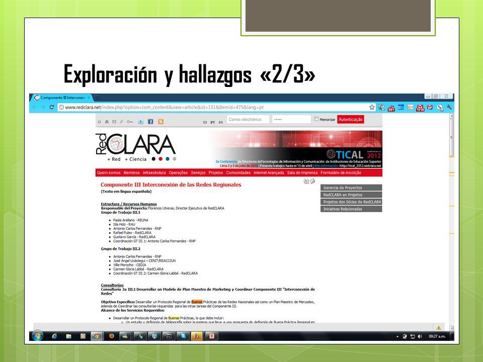 Exploración y hallazgos «2/3»