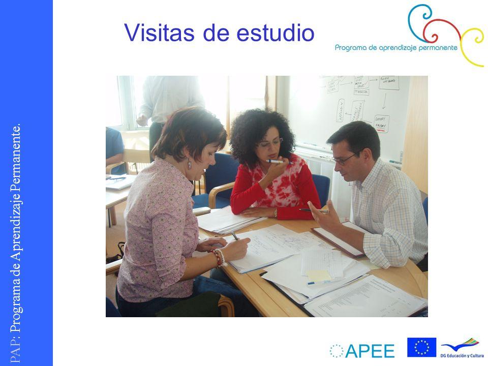 PAP : Programa de Aprendizaje Permanente. Visitas de estudio