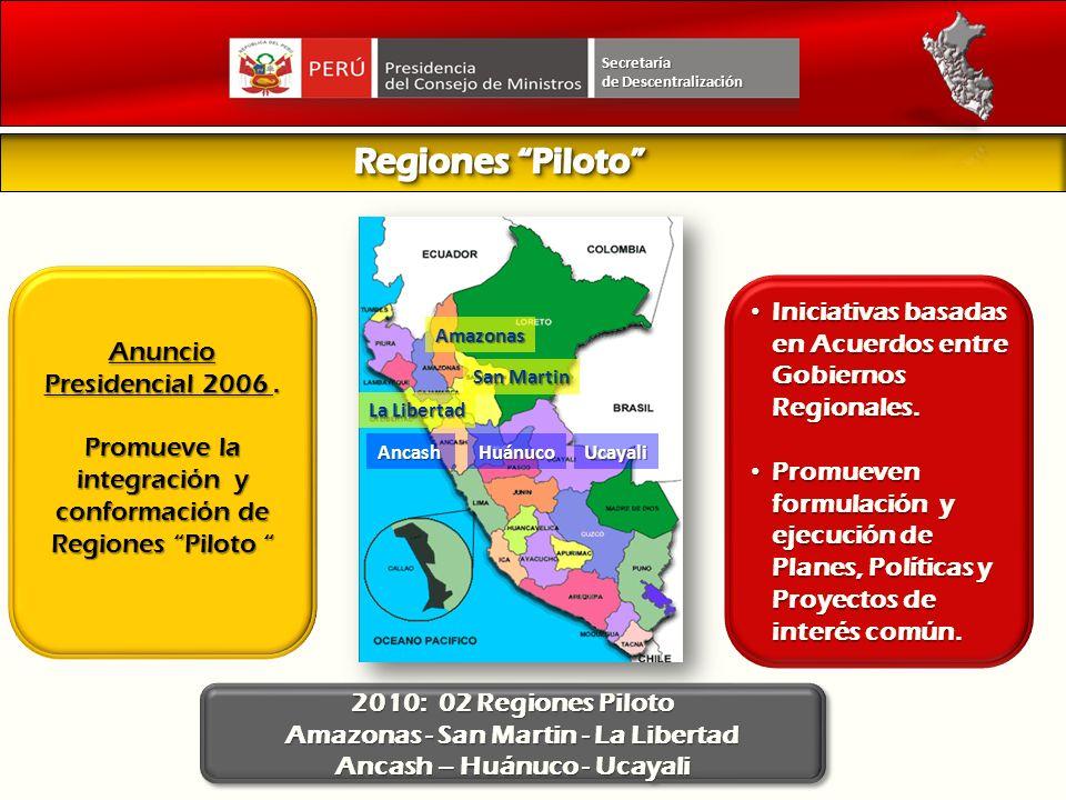 Iniciativas basadas en Acuerdos entre Gobiernos Regionales. Iniciativas basadas en Acuerdos entre Gobiernos Regionales. Promueven formulación y ejecuc
