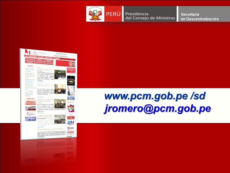 www.pcm.gob.pe /sd www.pcm.gob.pe /sd jromero@pcm.gob.pe jromero@pcm.gob.pe www.pcm.gob.pe /sd www.pcm.gob.pe /sd jromero@pcm.gob.pe jromero@pcm.gob.p