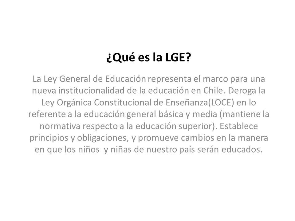 ¿Qué es la LGE.