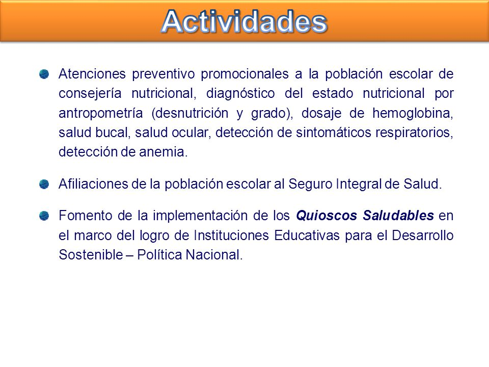 Atenciones preventivo promocionales a la población escolar de consejería nutricional, diagnóstico del estado nutricional por antropometría (desnutrici