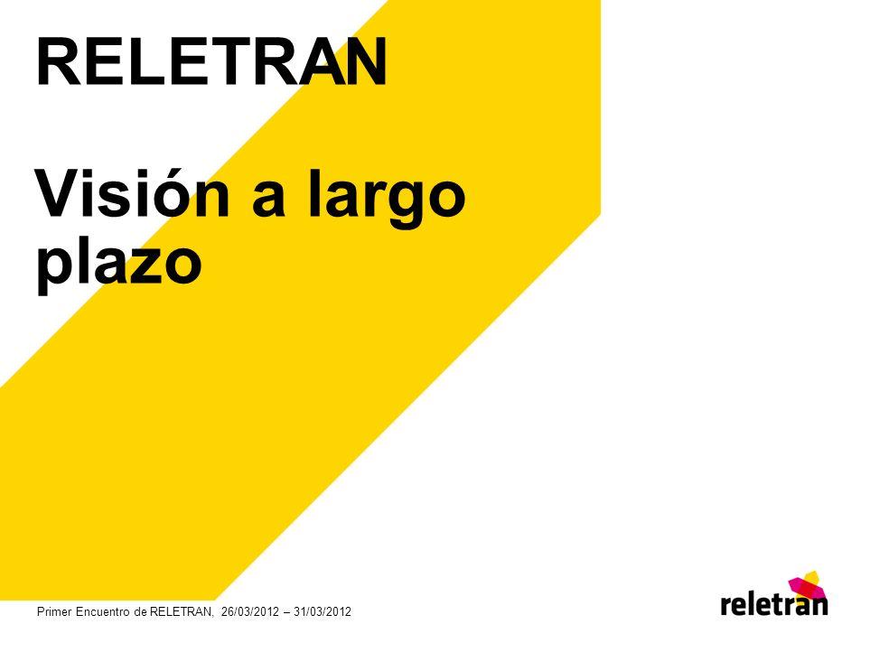 RELETRAN Visión a largo plazo Primer Encuentro de RELETRAN, 26/03/2012 – 31/03/2012