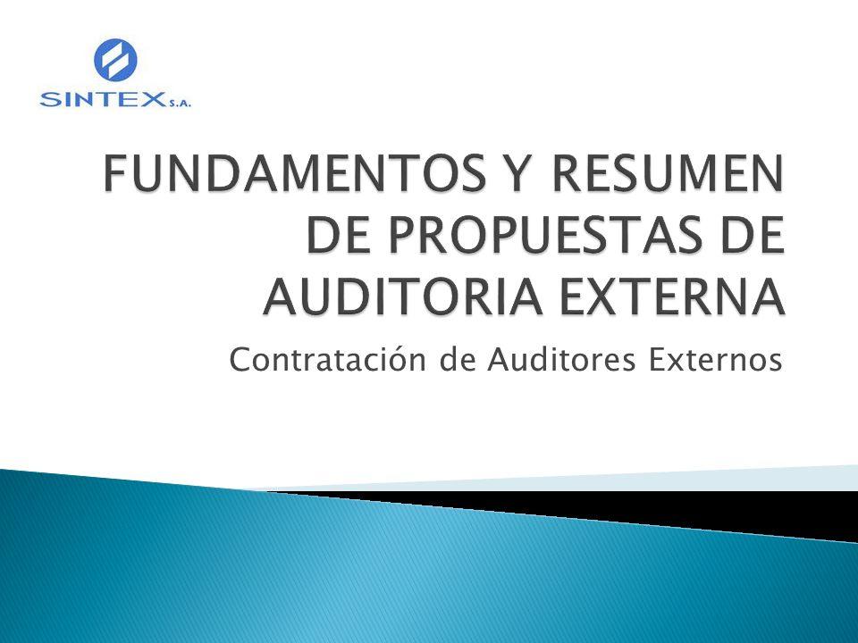 Contratación de Auditores Externos