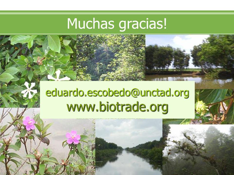 eduardo.escobedo@unctad.org www.biotrade.org Muchas gracias!