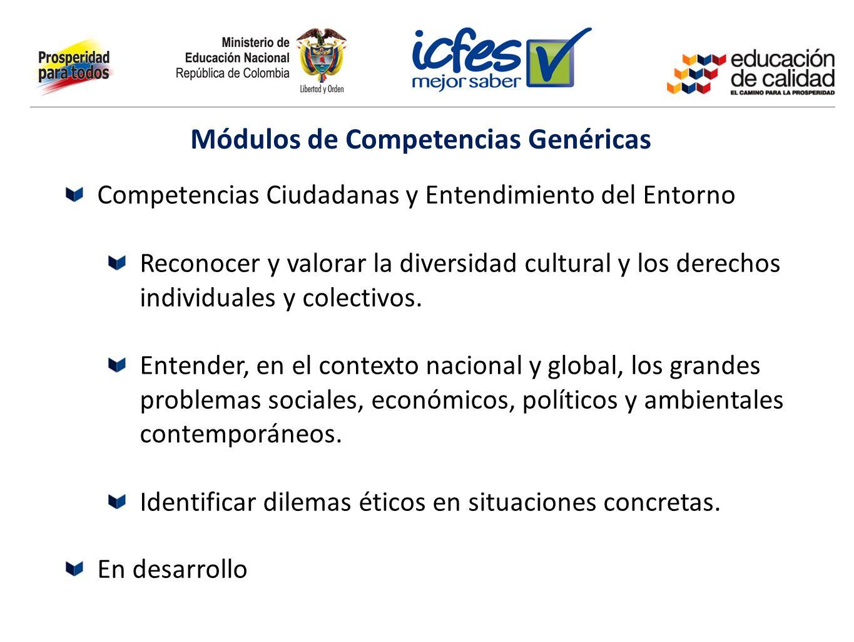 Competencias Ciudadanas y Entendimiento del Entorno Reconocer y valorar la diversidad cultural y los derechos individuales y colectivos. Entender, en