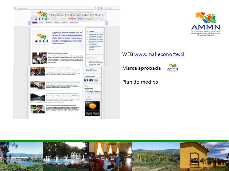 WEB www.malleconorte.clwww.malleconorte.cl Marca aprobada Plan de medios