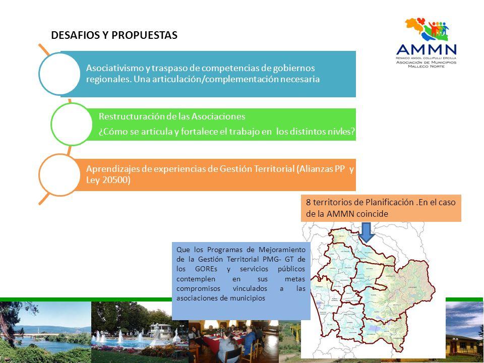 Asociativismo y traspaso de competencias de gobiernos regionales. Una articulación/complementación necesaria Restructuración de las Asociaciones ¿Cómo