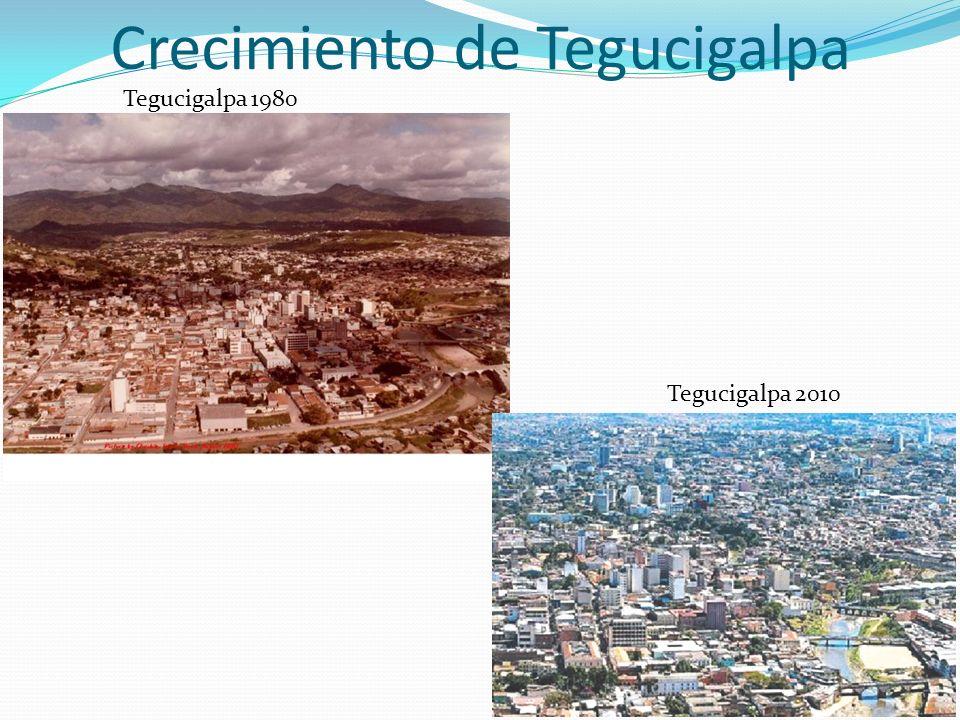 11 Crecimiento de Tegucigalpa Tegucigalpa 1980 Tegucigalpa 2010