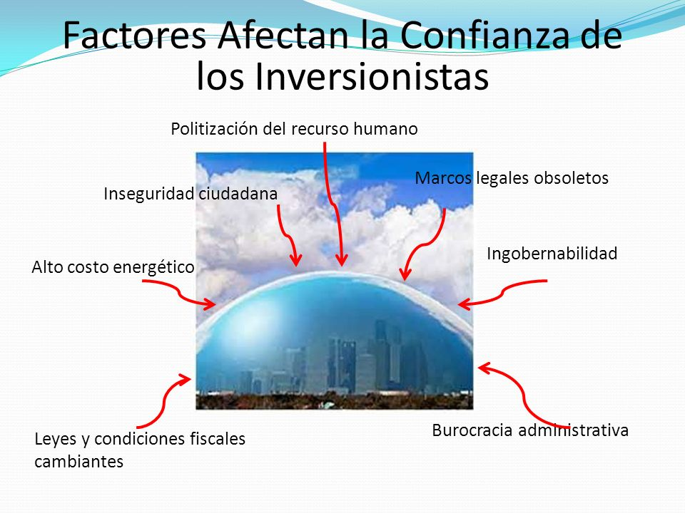 Burocracia administrativa Inseguridad ciudadana Alto costo energético Politización del recurso humano Marcos legales obsoletos Ingobernabilidad Leyes