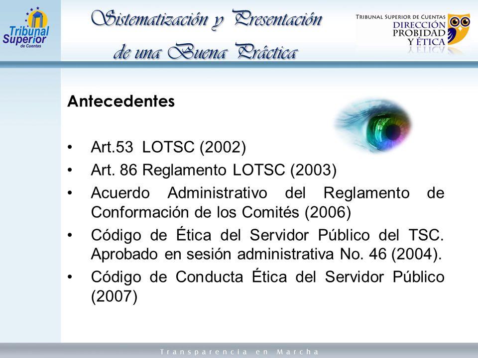 Antecedentes Art.53 LOTSC (2002) Art.