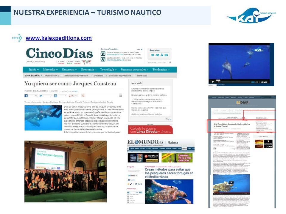 www.kaiexpeditions.com NUESTRA EXPERIENCIA – TURISMO NAUTICO