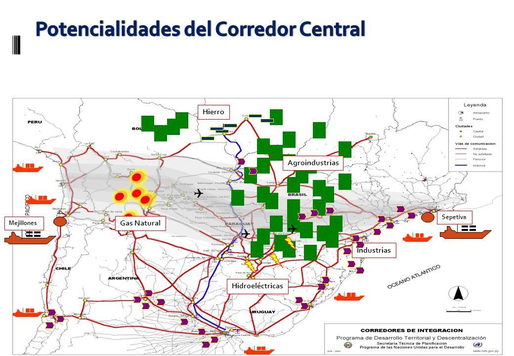 Agroindustrias Hierro Hidroeléctricas Industrias Gas Natural Mejillones Sepetiva