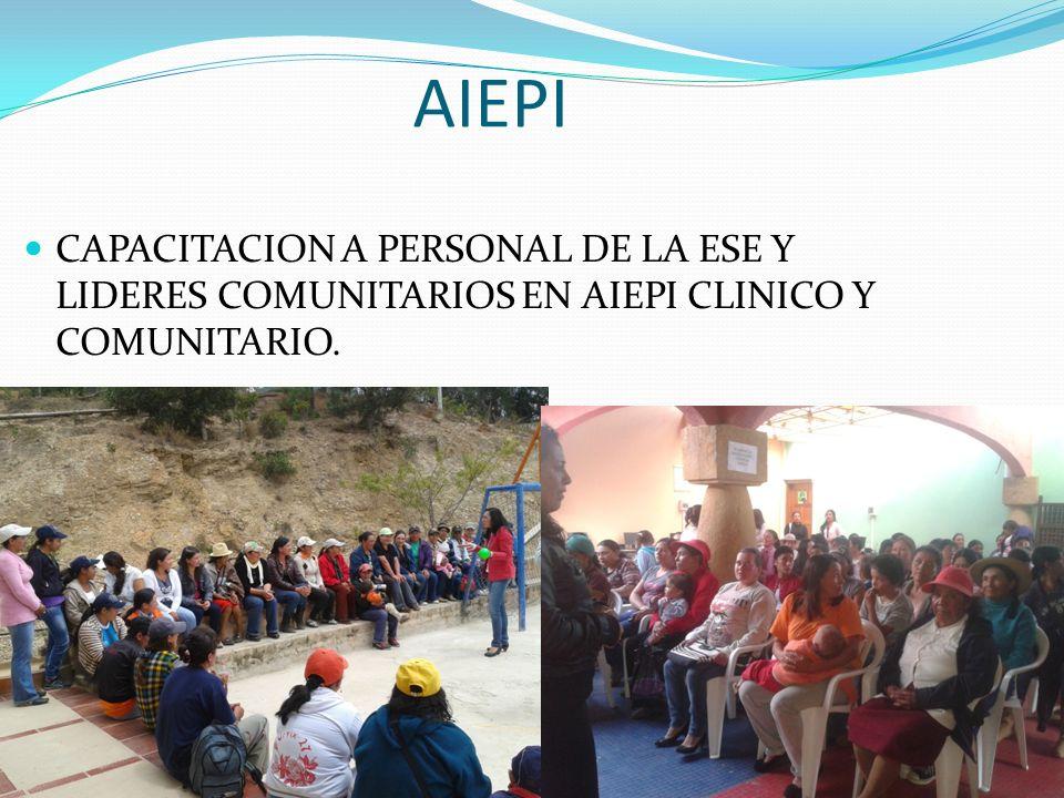 AIEPI CAPACITACION A PERSONAL DE LA ESE Y LIDERES COMUNITARIOS EN AIEPI CLINICO Y COMUNITARIO.