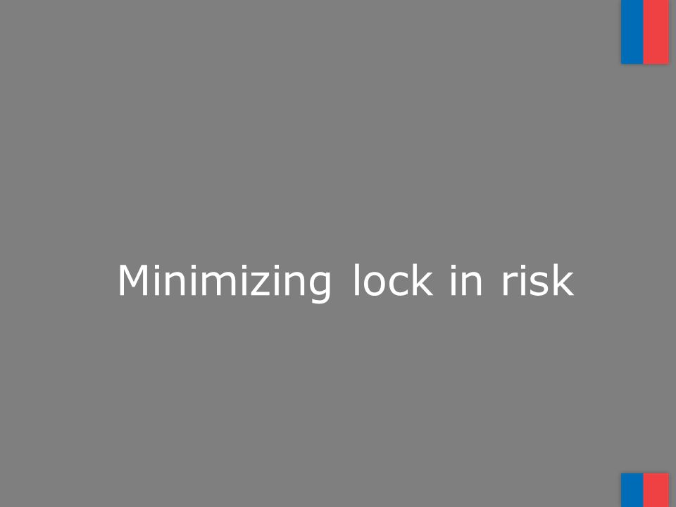Minimizing lock in risk