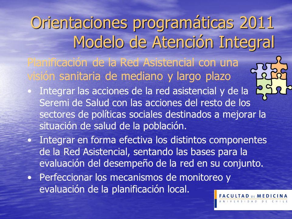 Orientaciones programáticas 2011 Modelo de Atención Integral Planificación de la Red Asistencial con una visión sanitaria de mediano y largo plazo Int