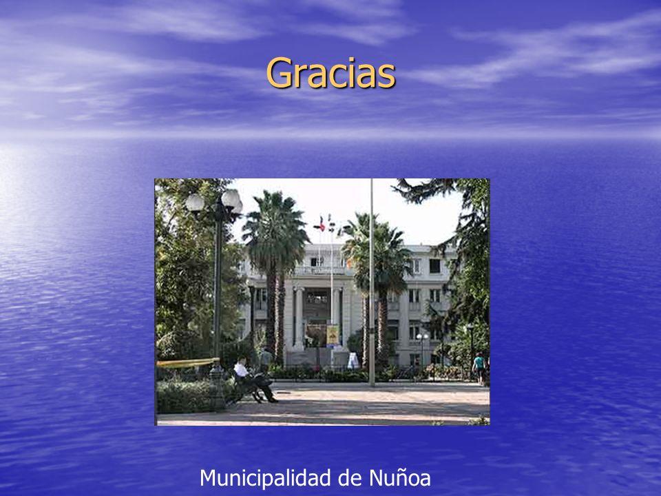 Gracias Municipalidad de Nuñoa