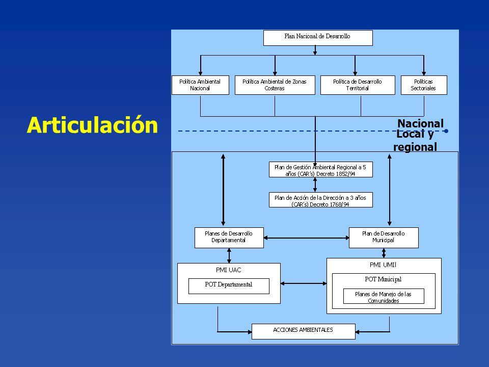 Articulación Nacional Local y regional