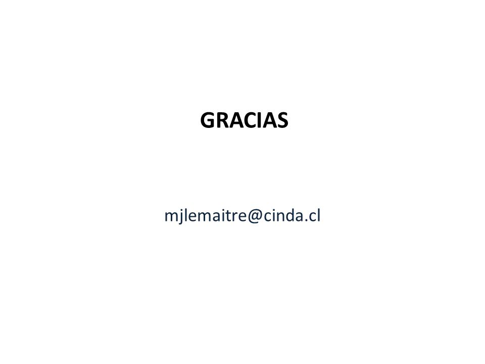 GRACIAS mjlemaitre@cinda.cl