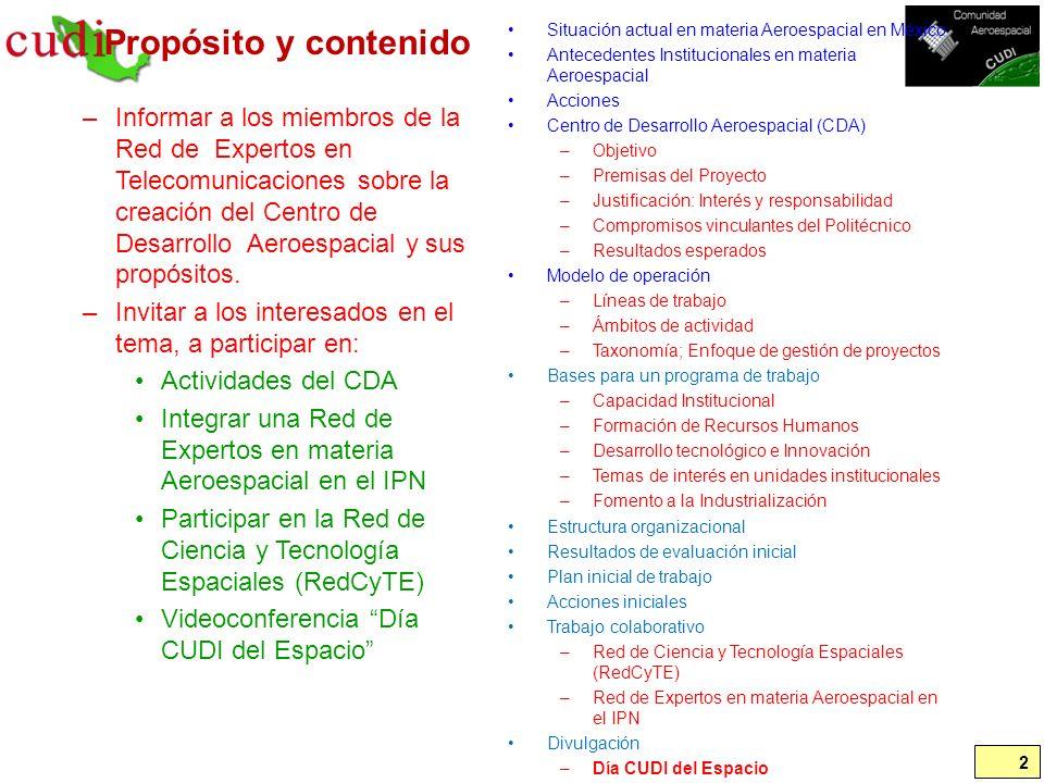 Presupuestos de agencias espaciales 2/2 43 Agencias Espaciales; presupuesto reportado (Parte 2) PaísNombreCreación2008200920102011201220132014Referencias Brasil Agencia Espacial Brasileña (AEB) (civil) [millones USD] 1994.02.10 213211381299271262182http://www.aeb.gov.br/ Argentina Comisión Nacional de Actividades Espaciales (CONAE) [millones Pesos] 1991-05.28262220207 177 http://www.conae.gov.ar/principal.h tml Corea del Sur Korea Aerospace rEsearch Institute (KARI) [millones USD] 1989.10.10300 230 274300 Belgica Belgian Institute for Space Aeronomy (BISA) [millones USD] 1964.11.25 230 277 http://www.aeronomie.be/en/conta ct/whoarewe.htm España Instituto Nacional de Técnica Aeroespacial (INTA) 1942 20817135 Suecia Swedish National Space Board (SNSB) [millones USD] 1972 100 Pakistán Space and Upper Atmosphere Research Commission (SUPARCO) [millones USD] 1972 36 8482 Chile Agencia Chilena del Espacio (ACE) (Comisión Asesora Presidencial) [millones Pesos] 2001.07.17 100213217 http://www.agenciaespacial.cl/ Colombia Comisión Colombiana del Espacio (CCE) [millones Pesos] 2006.07.18 350450 http://www.cce.gov.co/web/guest/in icio Países Bajos Netherlands Institute for Space Research (SRON) [millones Euros] 1983 26 160 Suiza Swiss space Office (SSO) [millones USD] - 100 México Agencia Espacial Mexicana (AEM) [millones Pesos] 2010.07.30 0 0 0100 60 Ecuador Agencia Espacial Civil Ecuatoriana (EXA) 2007.11.01 N.D.