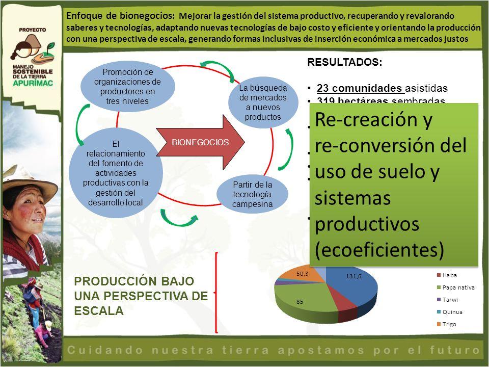 Enfoque de bionegocios : Mejorar la gestión del sistema productivo, recuperando y revalorando saberes y tecnologías, adaptando nuevas tecnologías de b