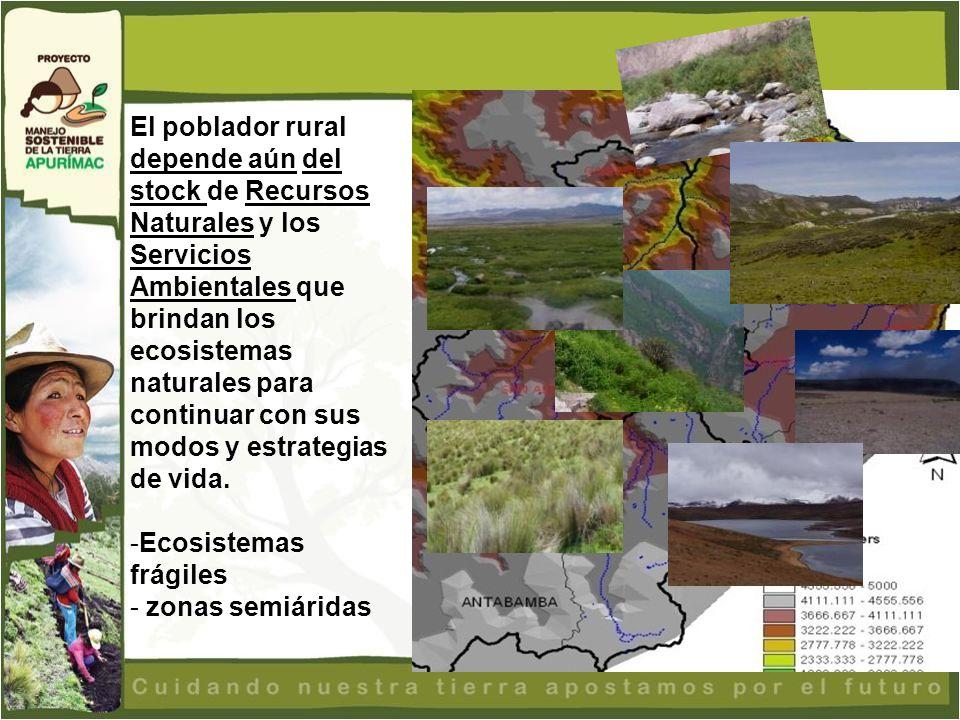El poblador rural depende aún del stock de Recursos Naturales y los Servicios Ambientales que brindan los ecosistemas naturales para continuar con sus