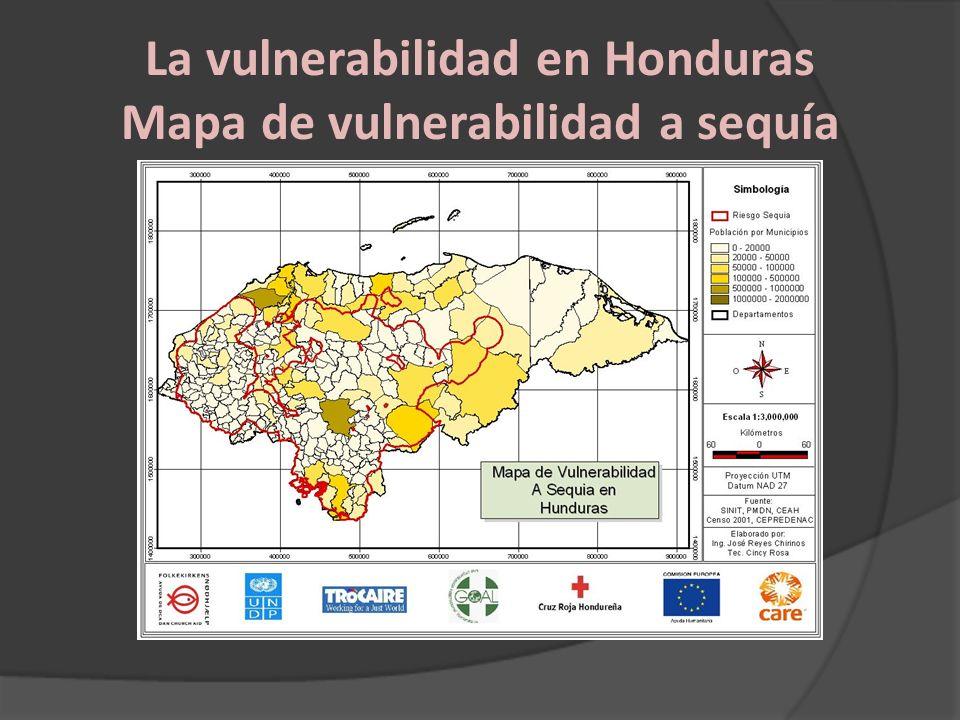 La vulnerabilidad en Honduras Mapa de vulnerabilidad a sequía